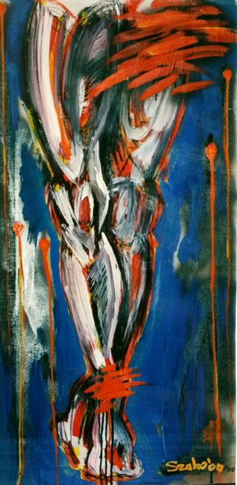 Crucifix_50x100cm_ulei pe panza_2000