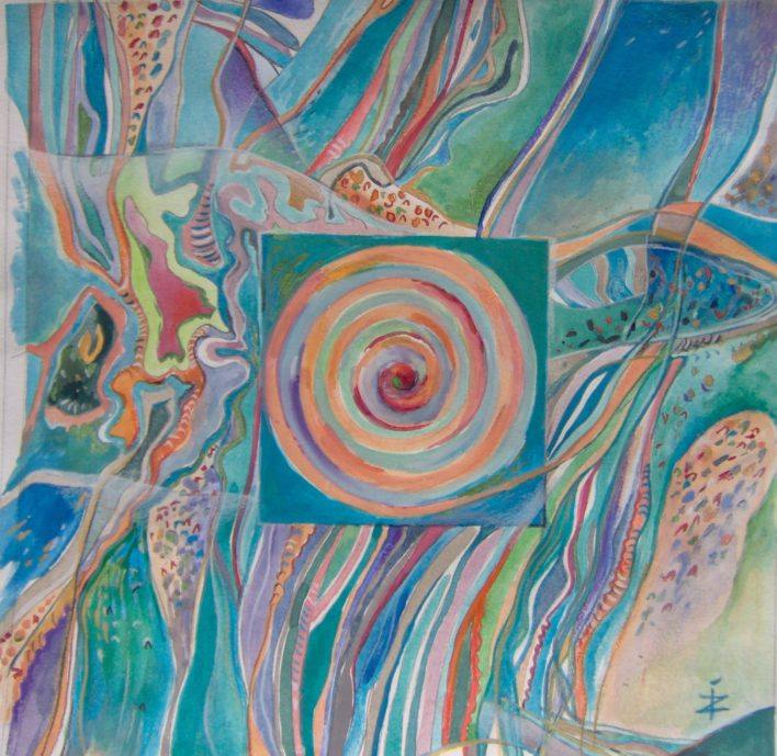 aquatica-60cmx60cm-tehnica-mixta-pe-hirtie-2010