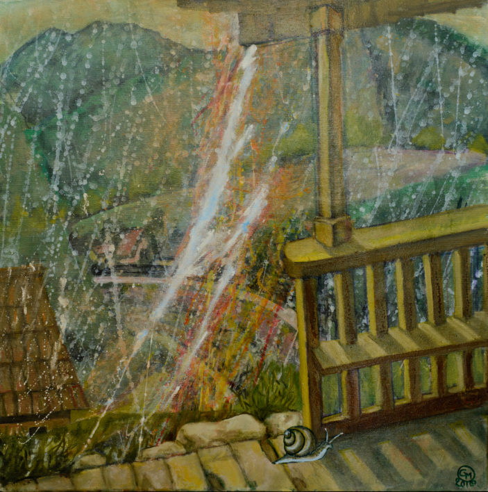 ploaie-de-vara-acril-pe-panza60x602015
