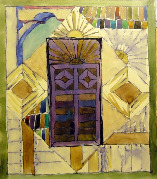 poarta-soarelui-aquarela-tusuri-40cmx-38cm-1998-copia